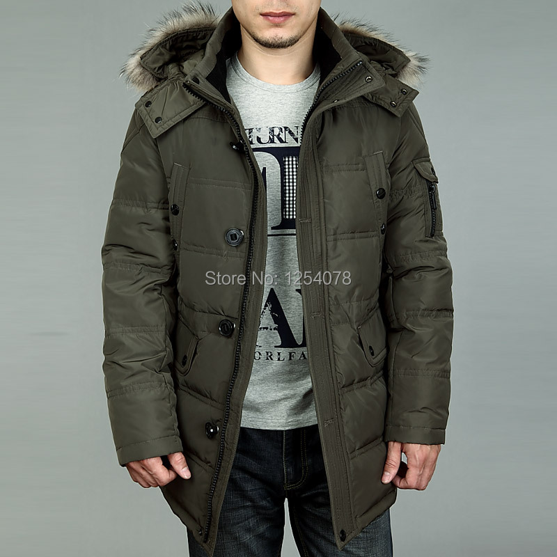 2014 new fashion hooded men s winter coat white winter duck down jacket short and winter