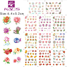 2014 NEW August LARGE 1 SET(11 DESIGNS IN 1 set)  Beautiful flowers nail sticker DECAL Serie NAIL WATER STICKER DECAL