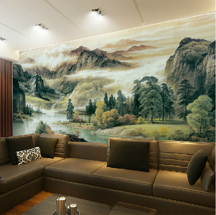 high quality the spectacular landscapes mural wallpaper. Black Bedroom Furniture Sets. Home Design Ideas