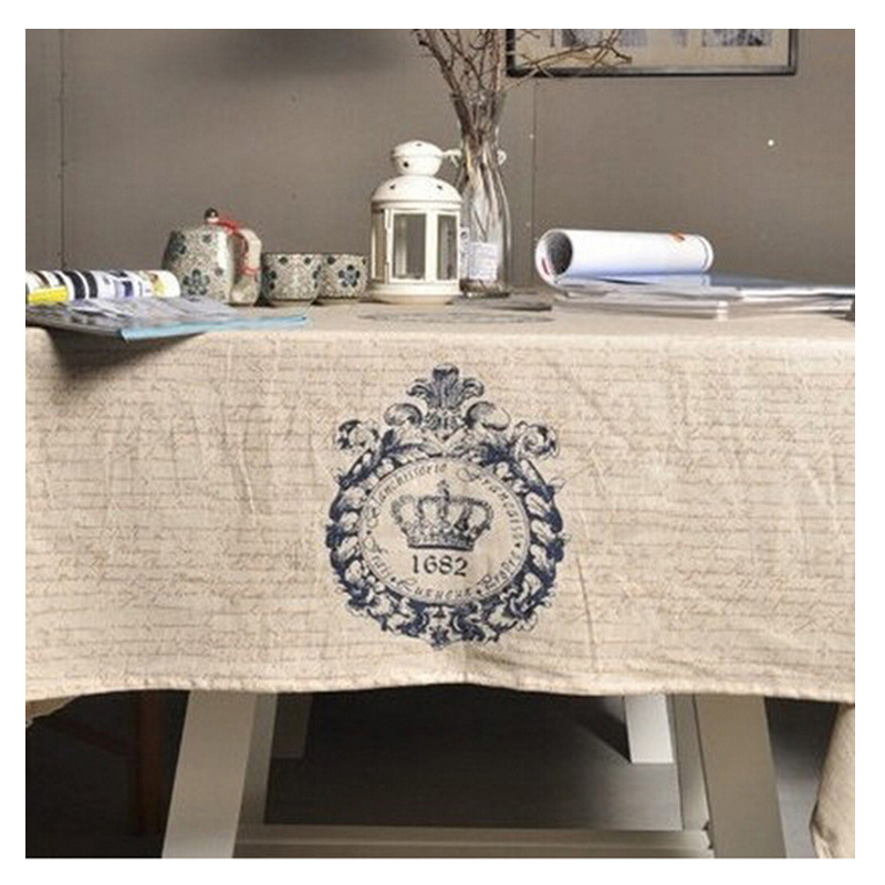 Household Supplies Cotton Linen Products Zakka Restoring Ancient Ways British Crown Cotton And Linen Table Cloth Cover Tea Table(China (Mainland))
