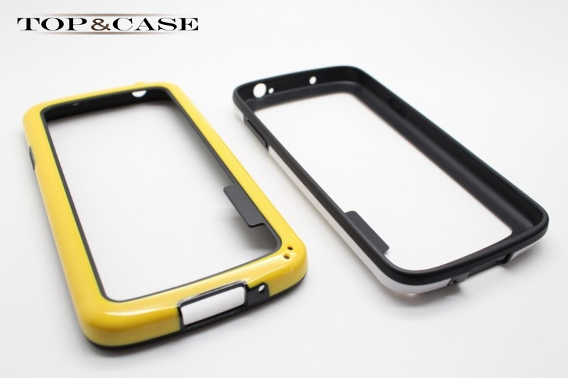 High Quality Double color PC & TPU Soft Silicone Bumper Frame case for Samsung Galaxy S4 Active i9295 SJ2085(China (Mainland))