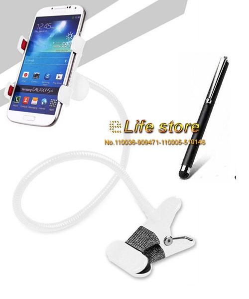 Universal Long Stand Phone Holder Bed Car Desktop Phone Holder Rotary Holder+Pen For Galaxy E5 Dual E500F E500M E500H(China (Mainland))