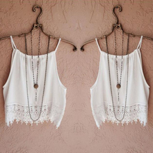 Fashion Sexy Women Lady Summer Lace Sleeveless Camisole Casual Crop Blouse Tops Shirt Y1(China (Mainland))