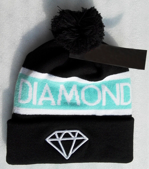 2014 fashion mens women winter hats skullies diamond beanie cap knitted hat black blue(China (Mainland))