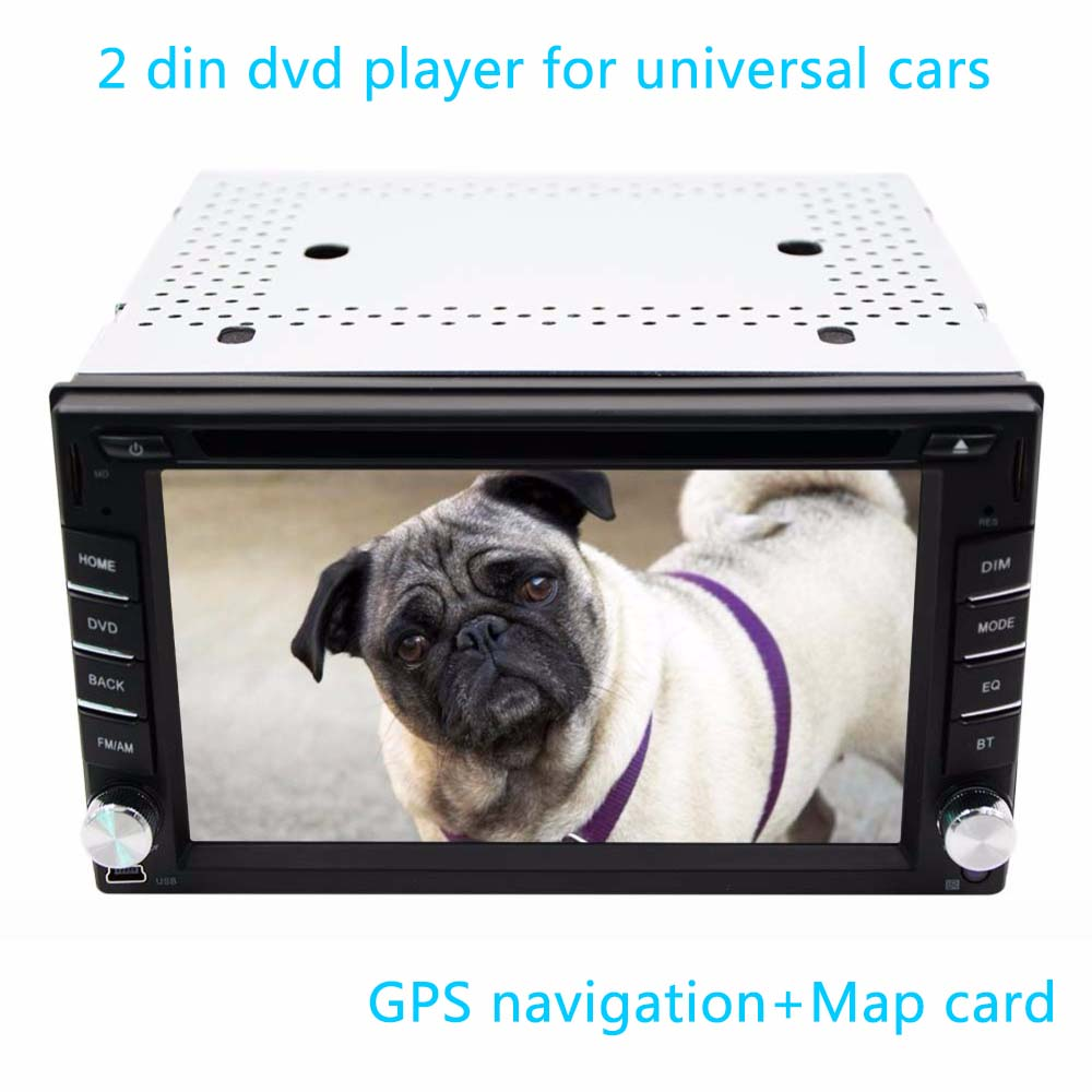 New universal Car Radio Double 2 din Car DVD Player GPS Navigation In dash Car Headunit Autoradio Stereo video+Map Free Camera(China (Mainland))