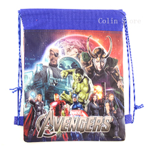 The Avengers Boys Children School Bag Cartoon Kids Drawstring Bag Backpack children Swimming Bags beach Hiking