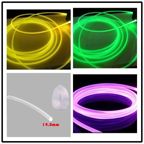 High Quality Low Loss Stary Soft MMA POF 14mm 100M Side Glowing Plastic Optical Fiber Lighting cable for Medical Optical Fiber(China (Mainland))