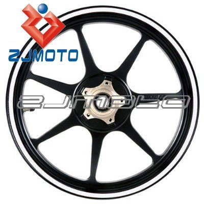 "White 17 inch Motorcycle Scooter Car & Truck Wheel Rim Stripes Stickers Decals 2/5"" or 1 CM wide for YZF R1 R6 XJR 400 MT-1(China (Mainland))"