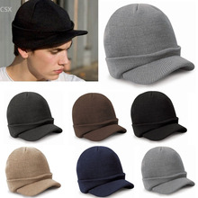 2016 New Unisex Knitting Beanie Hat Peaked Warm Winter Casual Outdoor Cap(China (Mainland))