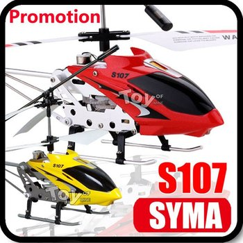 Hot Sale SYMA S107 S107G Gyro Electric 3CH Metal Infrared Mini Best RC Helicopter Remote Control RTF Helicopters Sample Package