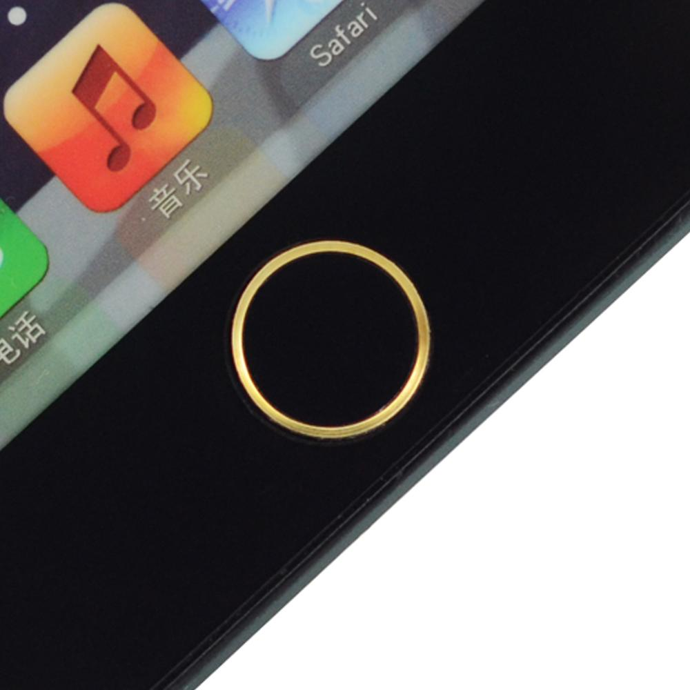 Premium Touch ID Metal Aluminum Home Button Sticker For iphone 5S