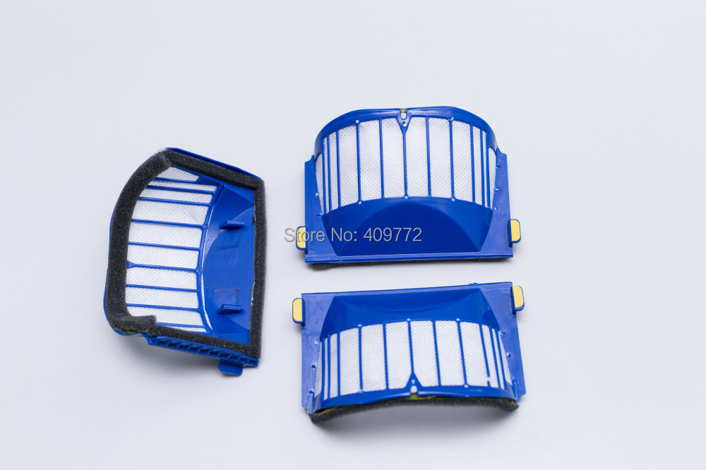 12 Pieces Replacement Blue Filter for iRobot Roomba AeroVac 550 551 536 552 564 Vacuum Cleaner Parts Accessaries(China (Mainland))