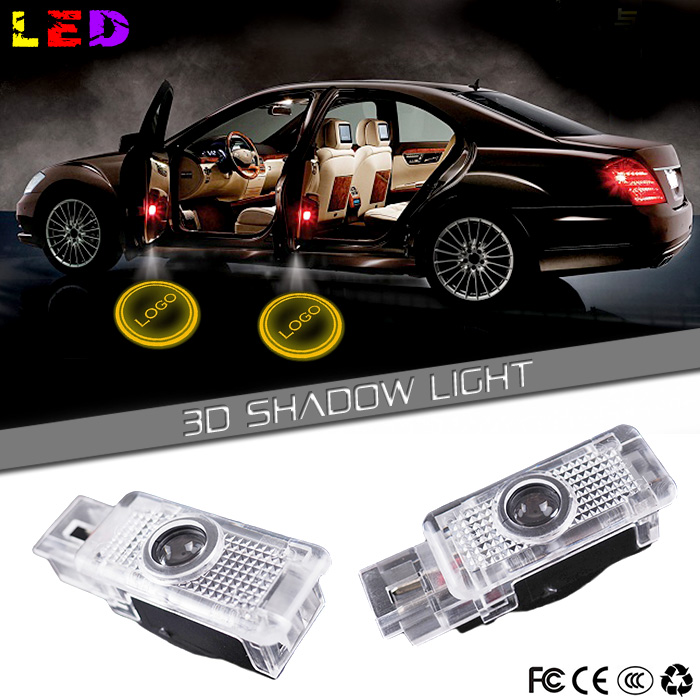 2pcs LED car Door Courtesy Ghost Shadow Logo Lights For Mercedes Benz W203 C Class SLK CLK SLR(China (Mainland))
