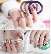 1 pc Nail stickers decoração de Unhas Prego DIY jóias de ouro e jóias de prata em combinação com adesivo prego 11