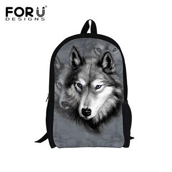 Hot Sale Children's 3D Animal Wolf Backpack,Cool Pet Dog Husky School Backpacks for Kids,Tiger School Bags for Teenagers Boys