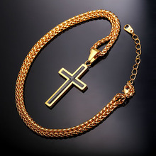 Buy Cross Necklace & Pendant Christian Jewelry Wholesale 316L Stainless Steel Gold Color Chain Cross Necklace Men GP952 ) for $5.45 in AliExpress store