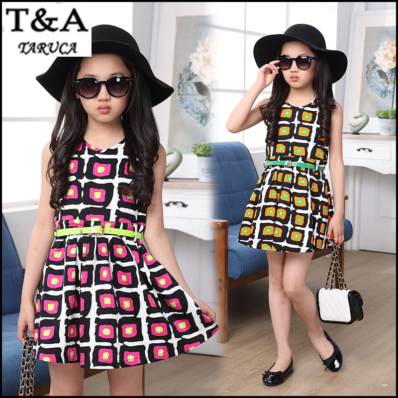 buy 2015 new summer style baby girls sleeveless dresses
