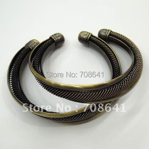Vintage Antique Bronze Brushed Brass Mesh style Blank Bases Jewelry Bracelet cuff Bangle Wholesale(China (Mainland))