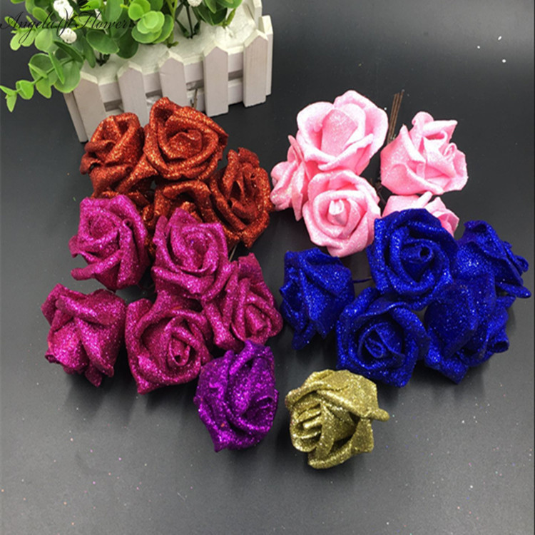 50pcs/lot flower head Bling bling high quality DIY wedding wreath LEAD flower bride hand flower handcraft flower shop hot sell!(China (Mainland))