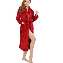 Bath Robe Unisex Bathrobe Winter Robe Loose Long Sleeves Coral Fleece Bathrobes Spa Shawl Pajama Nightdress Sleep Dress SV000951(China (Mainland))