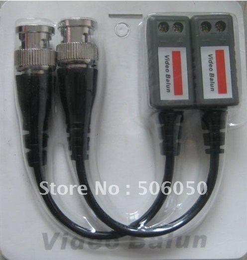 200Pairs Twisted BNC CCTV Video Balun passive Transceivers UTP Balun BNC Cat5 CCTV UTP Video Balun up to 3000ft Range(China (Mainland))