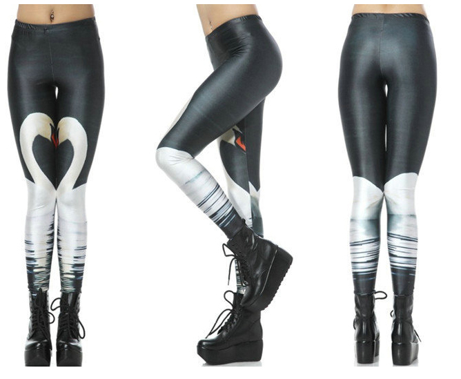"Fashion Shinning ""WHITE SWAM"" Anti-stink Seam Micro Fiber Knitted Female Skinning Tights,Free Shipping(China (Mainland))"