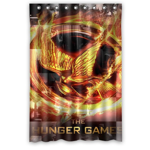 The Hunger Games Catching Fire Printed Polyester Shower Curtain 48x72 Inch Style Bathroom Shower Curtain(China (Mainland))
