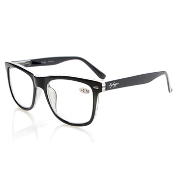 R080 Eyekepper Readers Square Large Lenses Spring-Hinges Reading Glasses Men +0.5/0.75/1.0/1.25/1.5/1.75/2/2.25/2.5/2.75/3/3.5/4