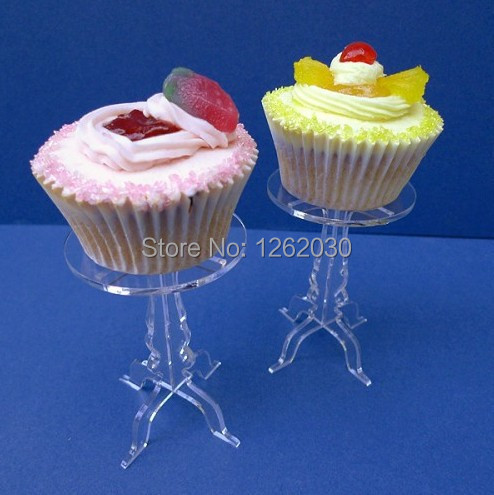 Removable transparent acrylic cupcake display stand,Single cupcake stand Free shipping!!!(China (Mainland))
