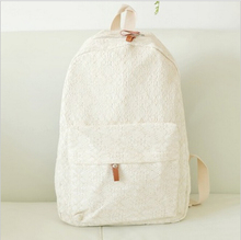 Women Backpacks Lace Cute Fresh Canvas School Backpack Bags For Teenagers Girls Mochilas Exo Bolsa Feminina(China (Mainland))