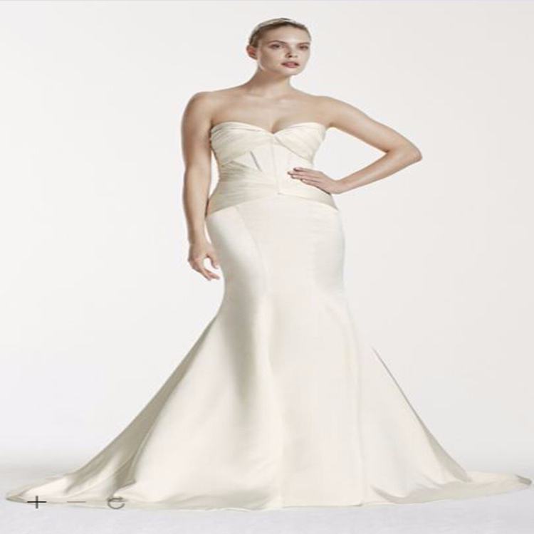 Free shipping custom made 2015 new truly zac posen satin for Zac posen wedding dress price