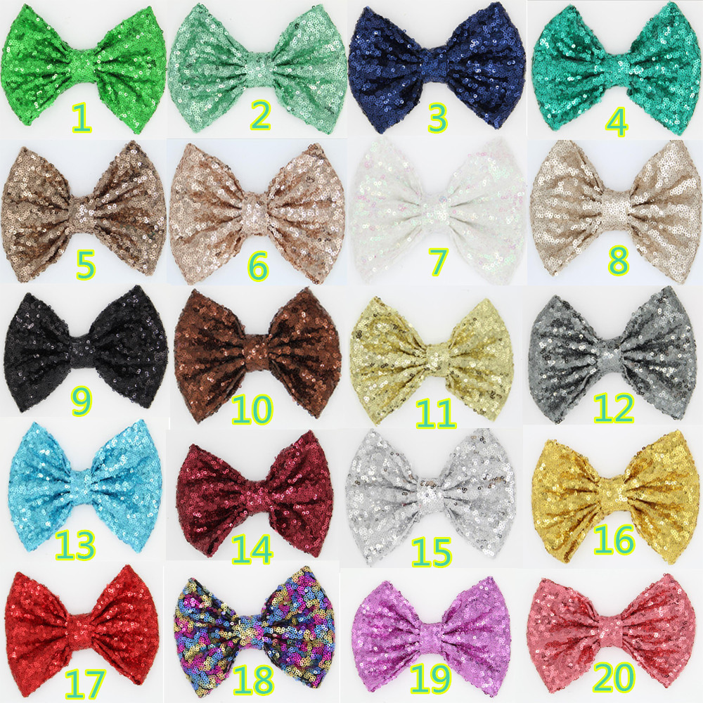 DHL Free150pcs/lot 25Colours Chic European 7 Sequins Messy Bow Without Clip High-quality Baby DIY Hair Accessories New ArrivalОдежда и ак�е��уары<br><br><br>Aliexpress