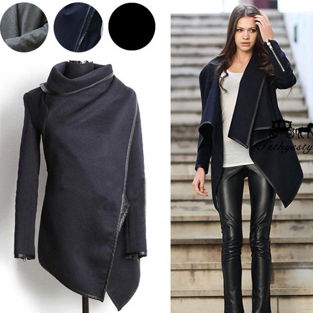 Женщины куртка горячая зима мода новый 2015 зимой шерстяные весна водолазка женщины ...