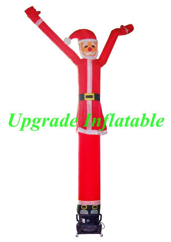 custom 20ft advertising inflatable santa air dancer for Christmas Day(China (Mainland))