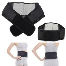 1pcs Self-heating Tourmaline Magnetic Belt Lumbar  Support Brace Double Banded Adjustable Pad(China (Mainland))