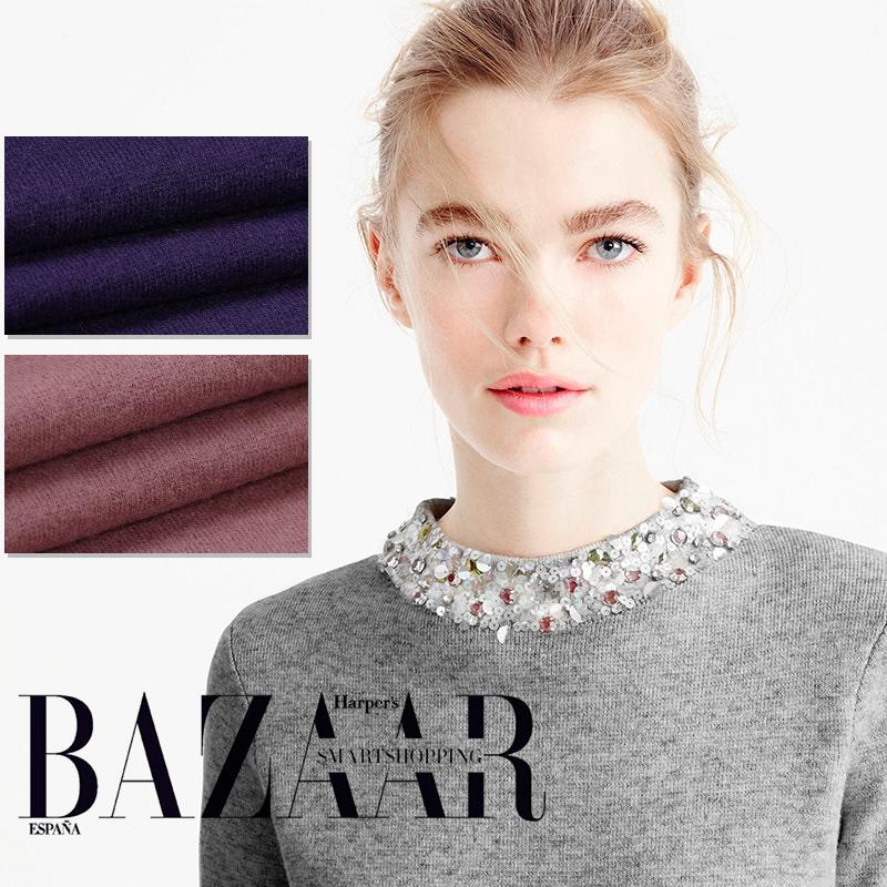 Limited hot sale new high purity knit wool fabrics Japan imported thin close skin bright cloth jersey fleece fabric tissu tela(China (Mainland))