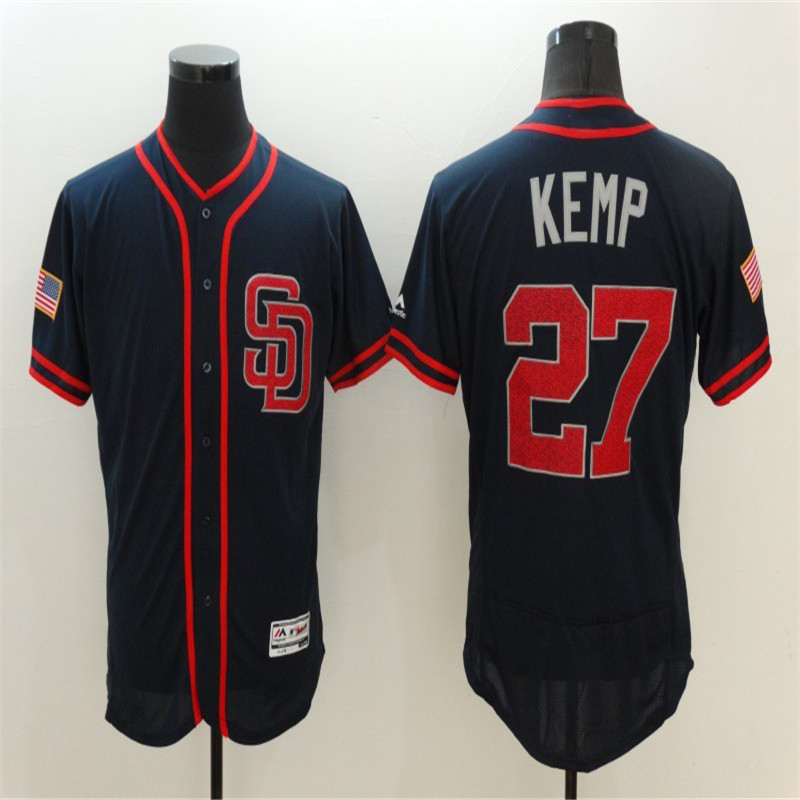 Mens Flexbase Version #27 Matt Kemp # Blank Memorial Day throwback Jerseys Color Black Fashion Baseball jersey(China (Mainland))