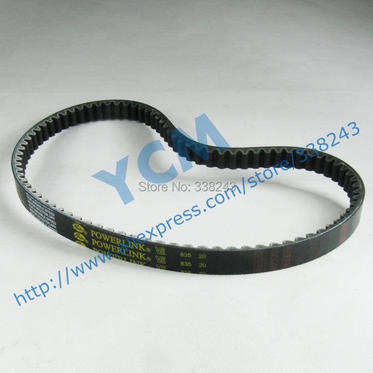 (Fast Shipping / 9 Pcs a lot)POWERLINK 835*20 Drive Belt,Scooter Engine Belt,Belt for Scooter,Gates CVT Belt, Free Shipping(China (Mainland))