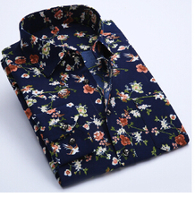 2016 Fashon Floral Shirt Mens Designs Long Sleeve Casual BrandShirt Men Slim Fit High Quality Men Clothes Imported Clothing(China (Mainland))