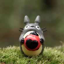 Anime Cartoon Miyazaki My Neighbor Totoro Cartoon Resin Figure Totoro Ladybird Garden Ornaments Moss Micro-Landscape