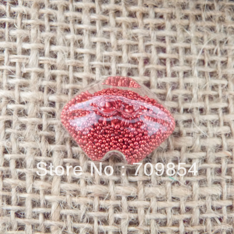 new hot !!! 100pcs/lot 26*18*10mm Clear Glass Dome Bubble Vial lip mouth shape without beads<br><br>Aliexpress