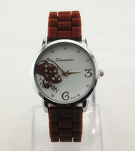 Min 10$ 2015 New Dress Luxury Brand  Index Dial Of  Baseballs Cap   Watches For Women  44.5g 63WHSZ008(China (Mainland))