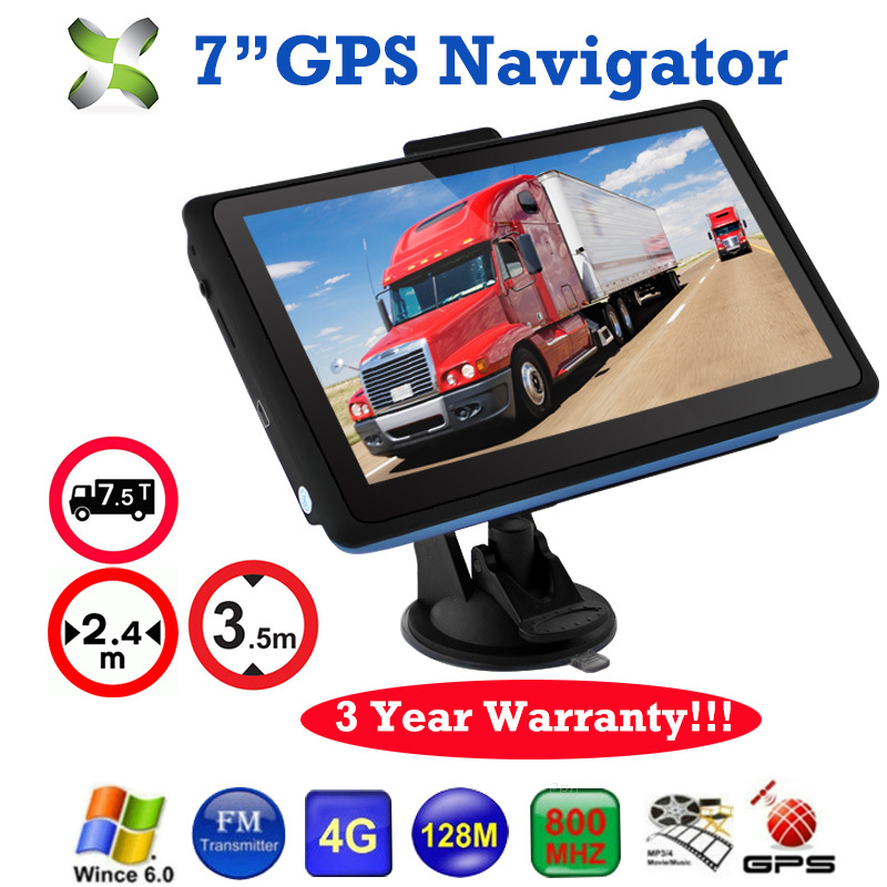 "Car 7"" GPS Navigation 8G FM Touch Screen SAT NAV Charger MP3/MP4 Players Car Trucker Navigator GPS SAT NAV UK USA Free Maps(China (Mainland))"
