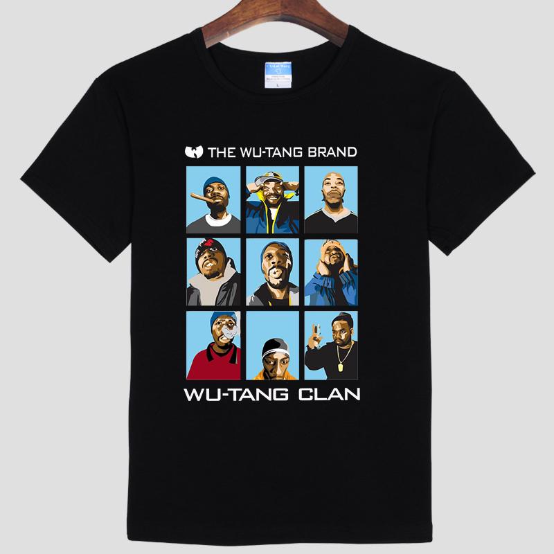Music theme Rock Wu Tang Clan T Shirts Men Cotton O Neck t shirt Hip Hop Man TeeFree Tops New Short Sleeve Mens Tees
