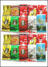 20pcs10 Different Flavors Oolong Tea,Milk oolong tea,Ginseng oolong,TiKuanYin ,DaHongPao,Puer tea+Free gift,Free shipping