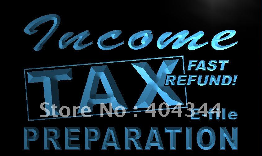 LK694- Income Tax Preparation Office NR LED Neon Light Sign home decor shop crafts(China (Mainland))