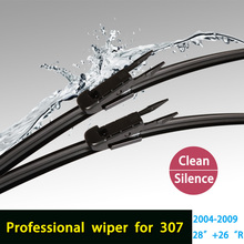 """Wiper blades for Peugeot 307 (2004-2008) 28""""+26""""R fit pinch tab type wiper arms only HY-017(China (Mainland))"""