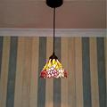 7 corridor Simple Art Pendant Lights Leaves retro pattern Handmade Multicolored Glass Tiffany LAMP Corridor ceiling