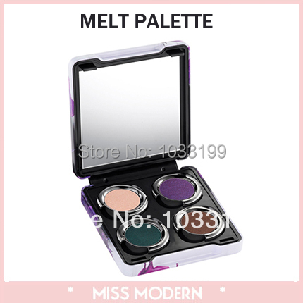 Brand Cosmetic Moonflower / Rock / Melt / Rebound Build Your Own Palette With 4 Shadows Can Refill Eyeshadow Makeup NIB(China (Mainland))