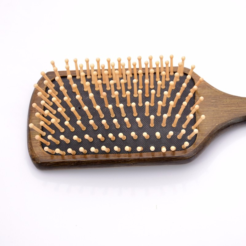 Black Wooden Handle wood Teeth Human Massage Hair Brush Comb/ Pet Hair Grooming 25*8.5CM SY17D5